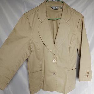 ❄️2/$20 Joan Rivers Neutral Blazer